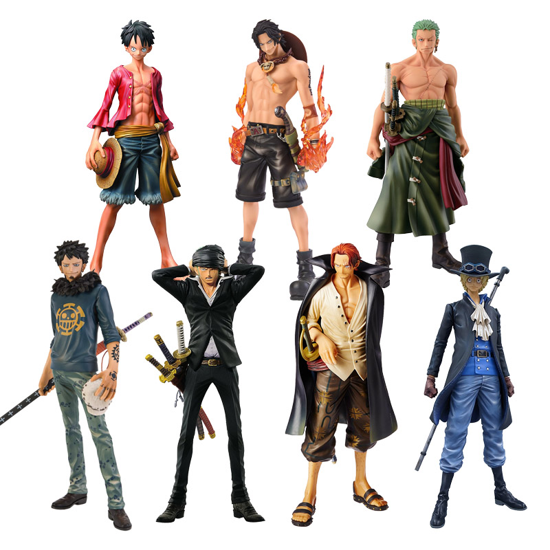 Anime One Piece Figure Ace Shanks Monkey D Luffy Figure Zoro Sanji law trafalgar Sabo One Piece Anime MSP PVC Model Toys(China)