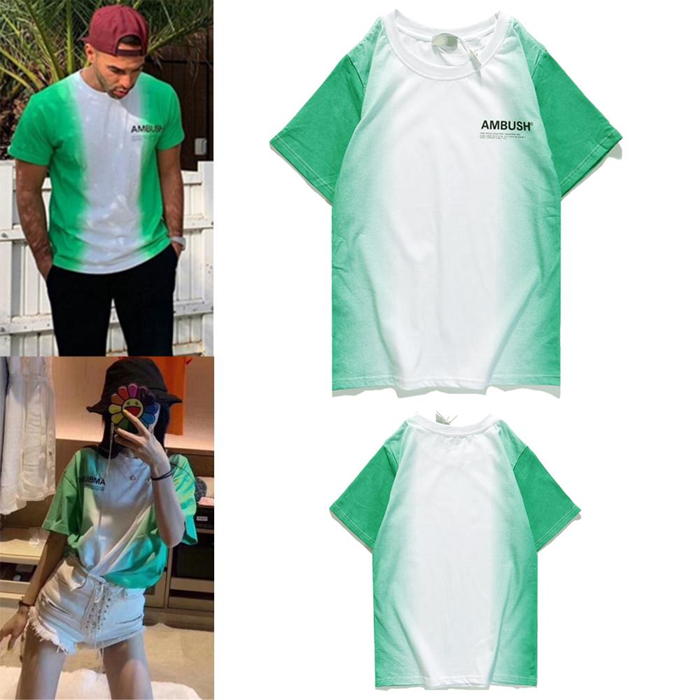 Ambush T Shirt Men Women T-shirts Nigeria Limited Edition Ambush Tee Gradient Tie-dye Summer Spring High Quality Cotton Tops