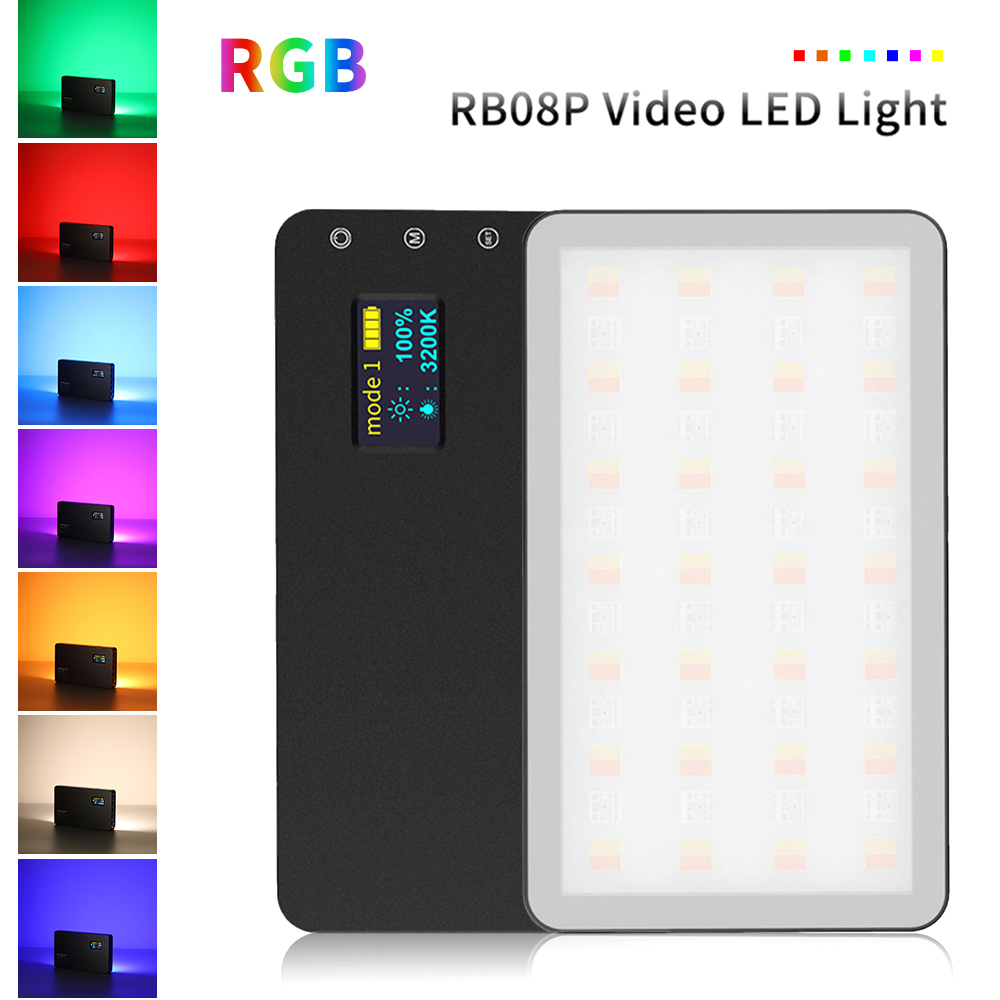VILTROX Weeylife RB08 RB08P RGB 2500 K-8500 K Mini Video LED Licht Füllen Licht Eingebaute Batterie für Telefon kamera Schießen Studio