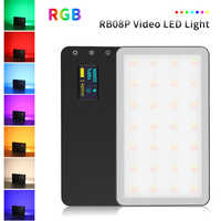 VILTROX Weeylife RB08 RB08P RGB 2500K-8500K Mini Video LED Light Fill Light Built-in Battery for Phone Camera Shooting Studio