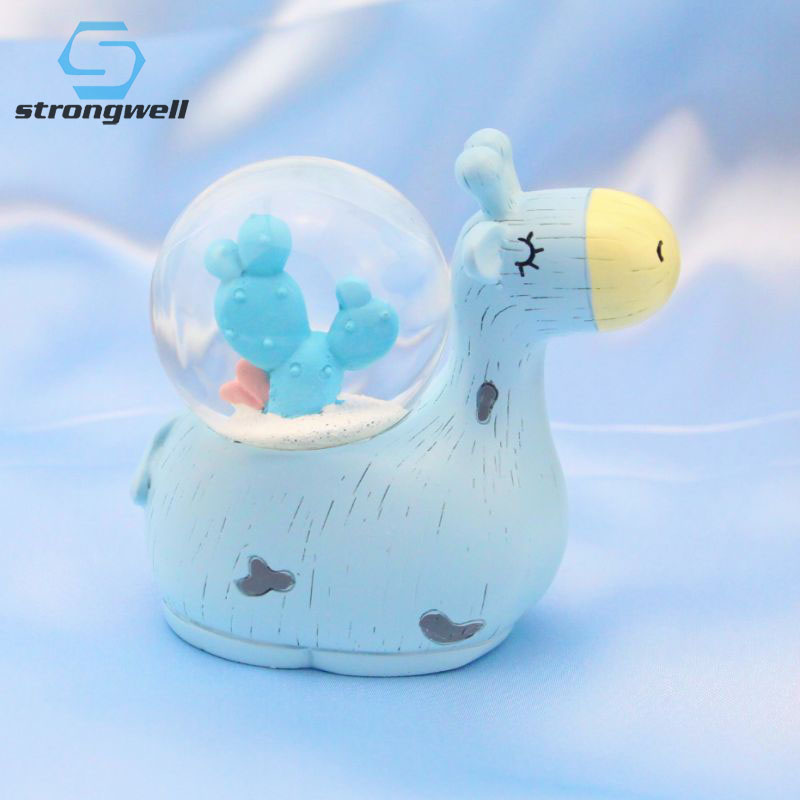 Strongwell Nordic Cute Fawn Crystal <font><b>Glass</b></font> Ball Decoration Crafts Snow Globe Crystals <font><b>Snowball</b></font> Resin Clear Crystal Balls Decor image