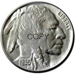 US 1935 P,D,S с гравировкой в виде американского бизона из никеля Five цент, копия монеты
