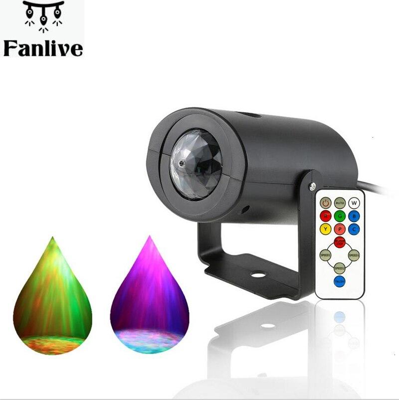 Bunte RGB LED Bühne Licht Wasser Welle Projektion Wirkung Lampe AC85-265V Kristall Magic Ball Bühne Licht KTV DJ Disco Beleuchtung