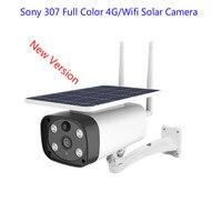2MP HD 4g wifi solar power IP cameras 1080P Sony 307 star light sensor IR vision outdoor 4g solar IP cameras P2P solar wifi cam