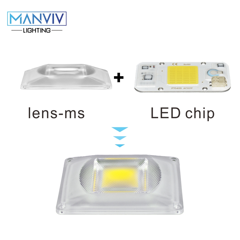 1set Dimmable LED COB Chip+Lens Reflector Smart IC Chip 50W 30W 20W 230V DIY For LED Flood Light LED Spotlight Grow Light Chip