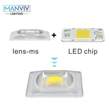 1set regulable LED COB Chip + lente Reflector Chip inteligente IC 50W 30W 20W 230V DIY para luz de inundación LED foco LED crecer luz Chip(China)