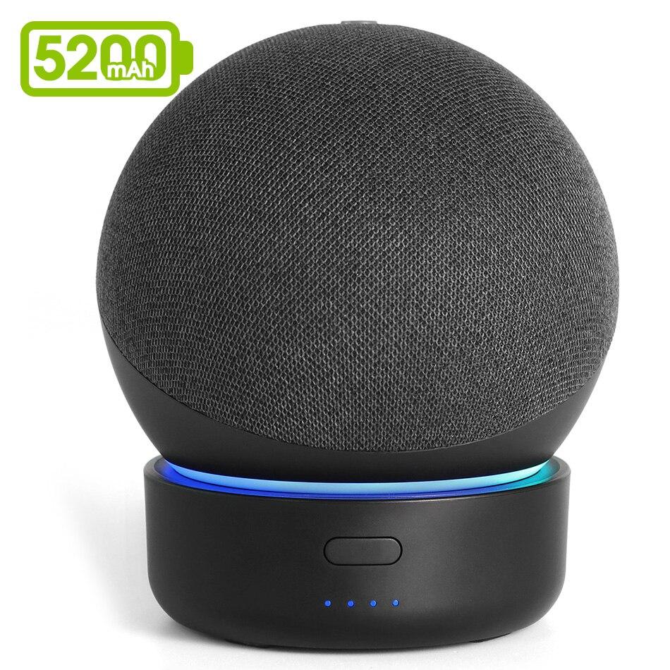 GGMM D4 5200 мАч батарея база для Echo Dot 4-го поколения Amazon Alexa динамик Портативный внешний аккумулятор для Dot 4 док-станция