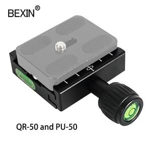 Image 5 - QR 50アルミ合金カメラクイックリリースクランプ取付アダプタクリップとPU50三脚ボール雲台アルカスイスカメラ