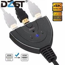 DZLST مقسم الوصلات البينية متعددة الوسائط وعالية الوضوح (HDMI) 4K * 2K 3 منافذ صغيرة الجلاد كابل 1.4b 1080P ل DVD HDTV Xbox PS3 PS4 3 في 1 خارج منفذ المحور HDMI التبديل
