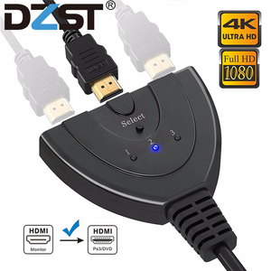 Image 1 - DZLST HDMI Splitter 4K*2K 3 Ports Mini Switcher Cable 1.4b 1080P for DVD HDTV Xbox PS3 PS4 3 in 1 out Port Hub HDMI Switch