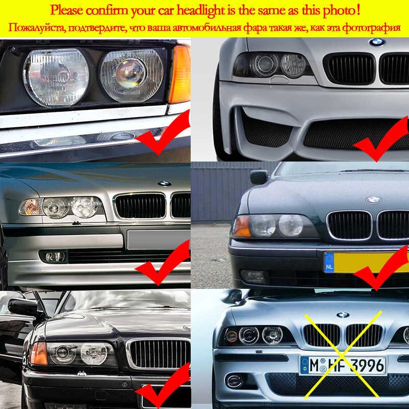 BMW 3 5 7 E36 E38 E39 E46 projektör aksesuarları far çok renkli RGB LED melek gözler ışık halkası göz DRL RF uzaktan kumanda
