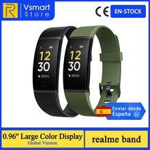 Version mondiale realme bande intelligente 0.96 ''grand écran couleur moniteur de fréquence cardiaque IP68 étanche sport Tracker Smartband