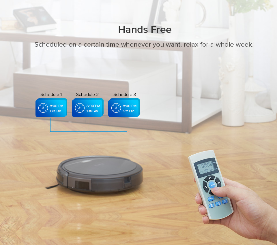 He5df822a6e3b4df5a79ef2fce9c82e56q ILIFE A4s Robot Vacuum Cleaner Powerful Suction for Thin Carpet & Hard Floor Large Dustbin Miniroom Function Automatic Recharge