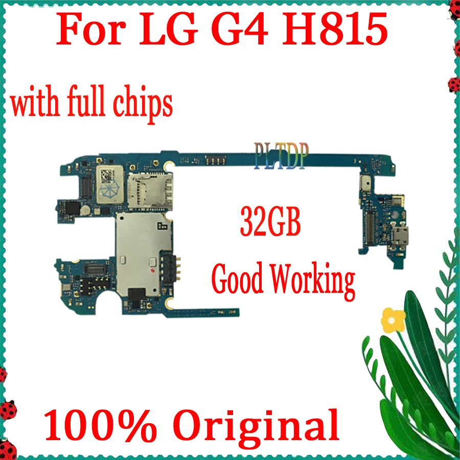 32GB For <font><b>LG</b></font> G4 <font><b>H815</b></font> <font><b>Motherboard</b></font> 100% Original unlocked with Android System for For <font><b>LG</b></font> G4 <font><b>H815</b></font> Mainboard Full Test Good Working image