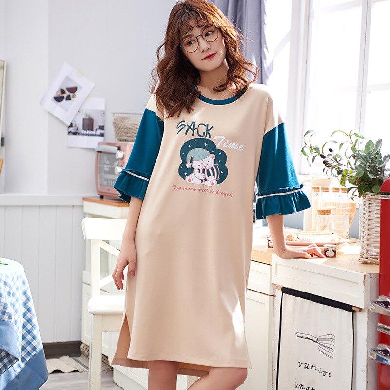 Y1005 # Christmas Bear LZ Short Sleeve Nightgown Pajamas Homewear Set Series