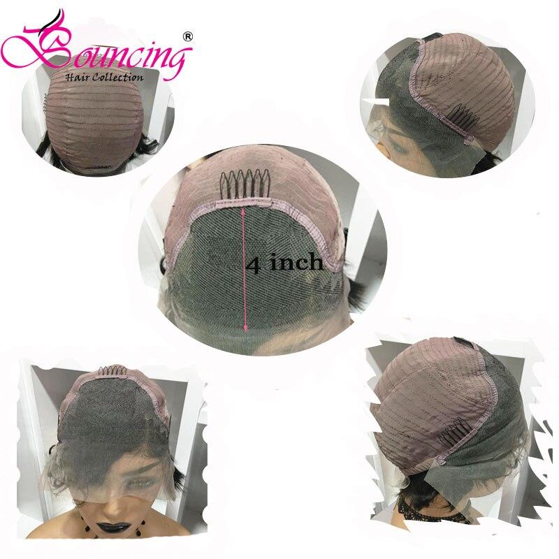 Image 3 - Bouncing Hair 13x4 Человеческие волосы Remy на кружеве, парики натурального цвета, короткий парик из 150 плотности, боковая часть для женщин-in Парик из натуральных волос на кружеве from Пряди и парики для волос on AliExpress