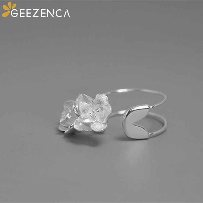 Ethnic Folk Flower Wide Silver 925 Ring