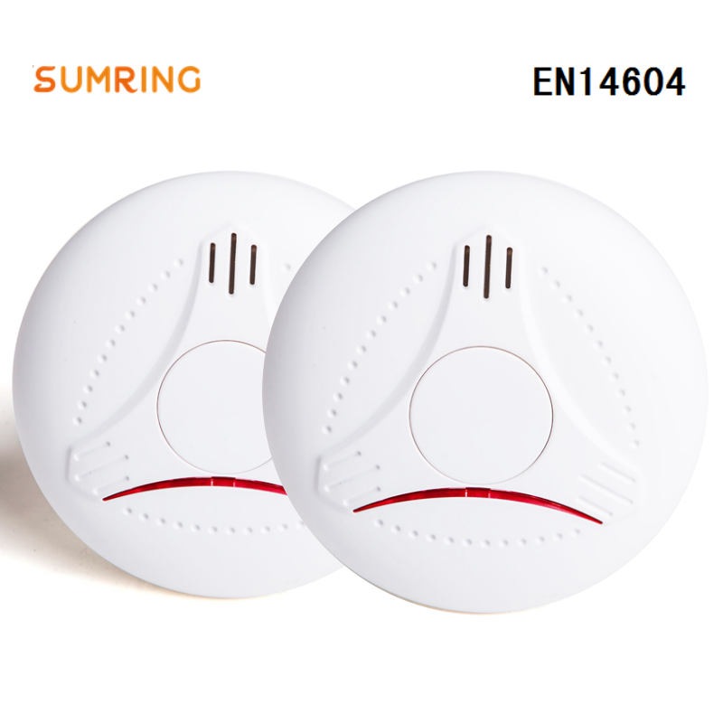 10 Years Smoke Detector EN14604 And CE Approved Stand Alone Kidde With Lithium Battery