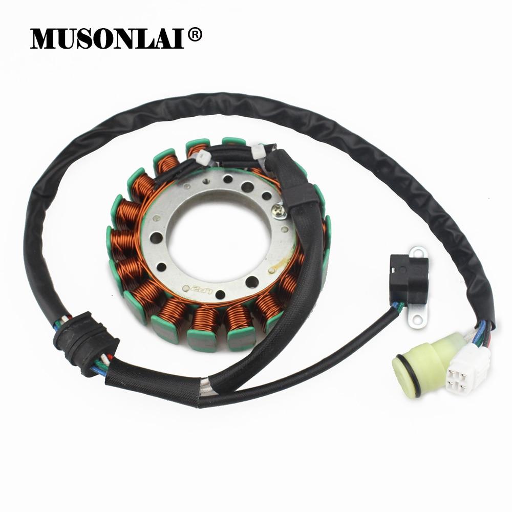 moto gerador magneto estator bobina para yamaha yfm400f yfm450fwa yfm660fa yfm450fwa yfm350fwa grizzly 660 400 450