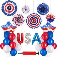 Decorações patrióticas seguro bandeira americana fontes de festa adequado para sua celebração patriótica em julho 4 muito durável melhor presente