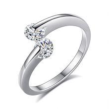 Лидер продаж двухсторонний циркон кольцо с циркониевое и двойной
