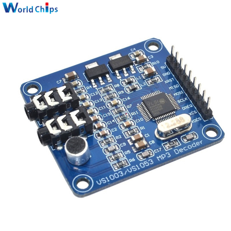 diymore VS1003B VS1053 MP3 Decoding Module Development Board VS1053b VS1053 IC Onboard Recording Function SPI Interface image