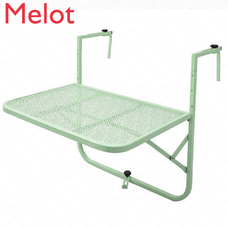 Balcony Hanging Table Railings Metal Wrought Iron Hanging Garden Table Folding Table European Simple Mini Wall Hanging Table