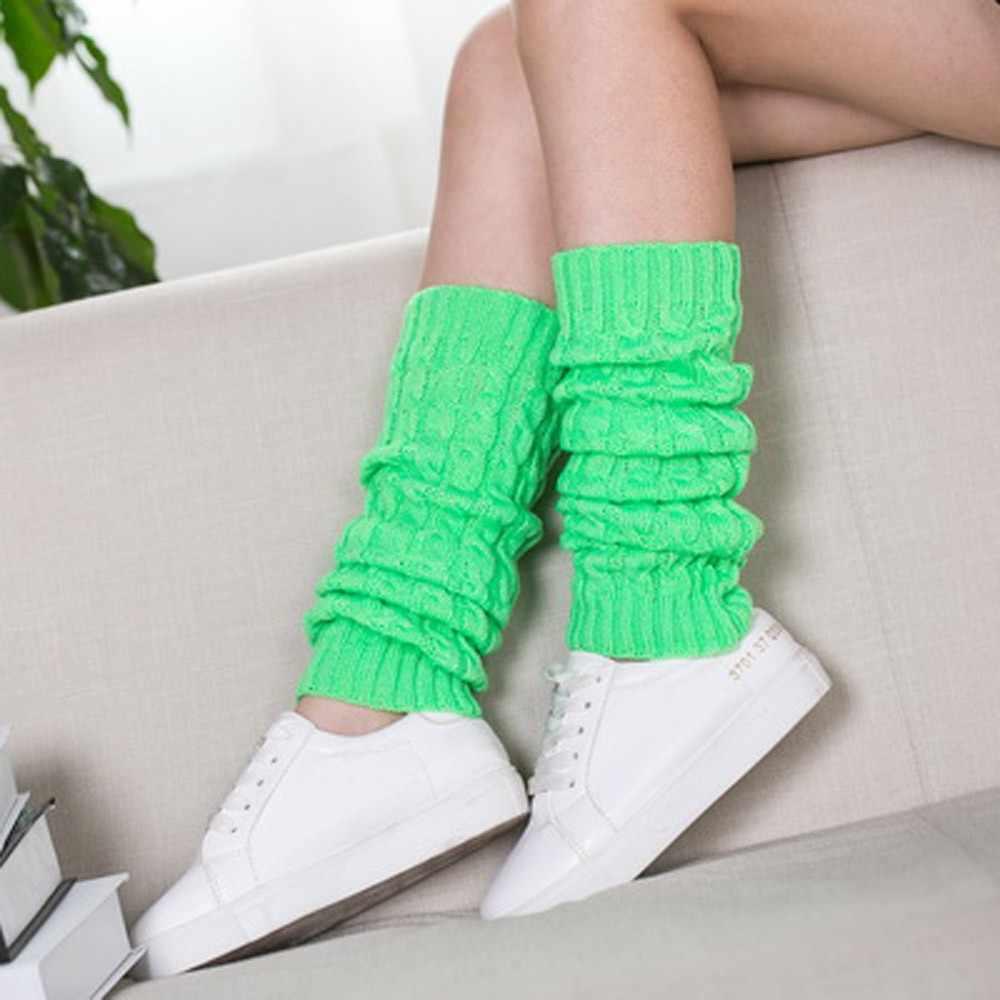 2019 Fashion Beenwarmers Vrouwen Warm Hoge Knie Winter Knit Solid Haak Been Warmer Sokken Warm Boot Manchetten Beenwarmers Lange sokken
