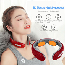 Wireless Electric Neck Massager Battery Operated Back Shoulder Massage Pad Pulse Body Relaxation Muscle Stimulator Stress Relief