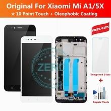 Original สำหรับ Xiaomi A1 จอแสดงผล LCD กรอบ 10 จุดสัมผัสหน้าจอสำหรับ Mi A1/ 5X LCD Digitizer เปลี่ยนชิ้นส่วน