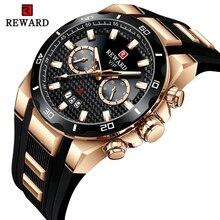 REWARD Mens Watches Top Brand Luxury Big Dial Military Quartz Watch