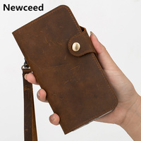 Genuine leather retro vintage wallet phone bag case for Xiaomi Redmi Note 8 Pro/Redmi Note 8 wallet case cover holster funda