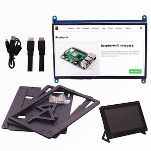 7 Inch IPS Touch Screen for Raspberry Pi 4, 1024X600 Capacitive HDMI LCD Touchscreen Monitor Portable Display for Pi 3 B B+(China)