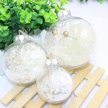Рождественский прозрачный шар для рождественской елки, висячий шар с подвеской на окно торгового центра, праздничные вечерние принадлежности