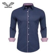 VISADA JAUNA 2019 Men Shirts Long Sleeve Fashion
