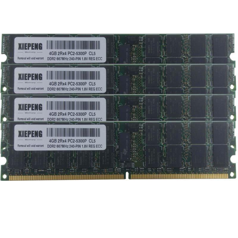 DDR2 MEMORY RAM PC2-3200 ECC REG DIMM 8GB 4X2GB