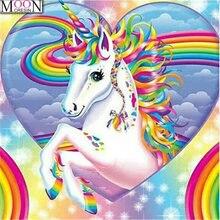 Новый 5d diy Алмазная картина цвет красная лошадь полный квадратный