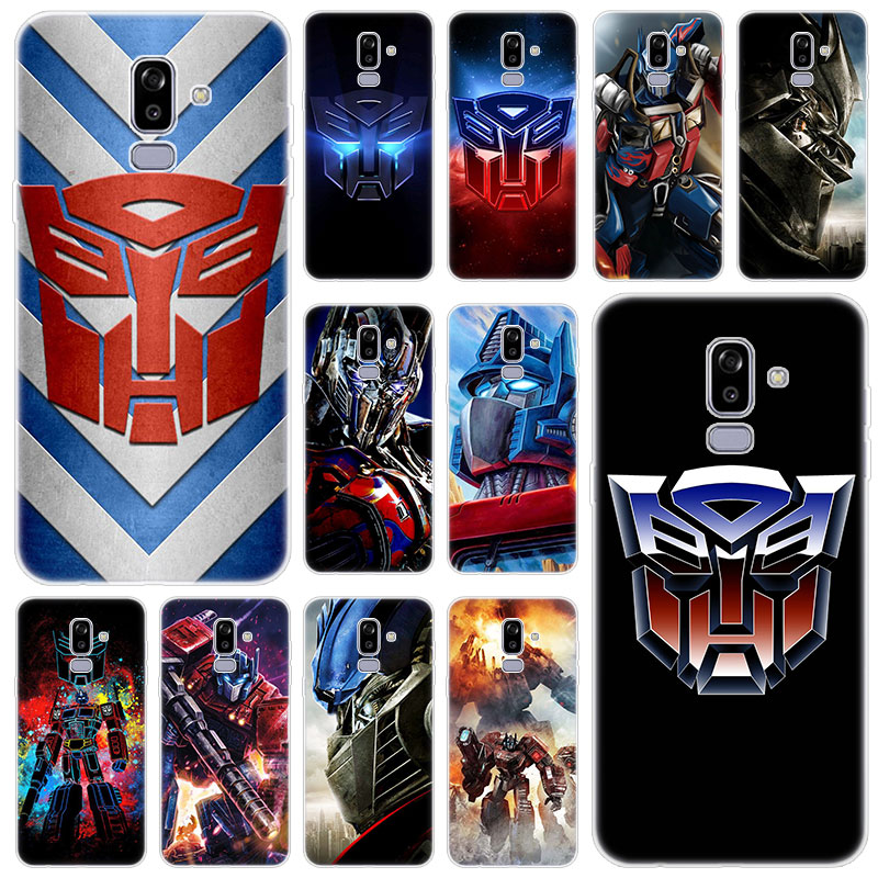 Transformers Autobot Logo Silicone Case for Samsung Galaxy J2 Pro J4 Plus J6 J7 Prime J8 2018 J4 Core J3 2016 J5 2017 EU Cover image