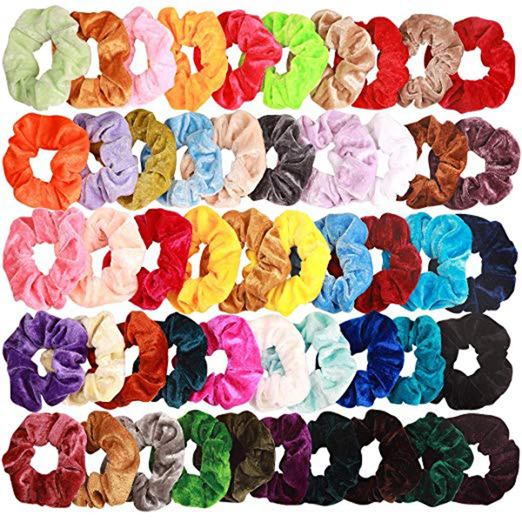 52 Pcs Velvet Scrunchie Women Girls Elastic Hair Rubber Bands Accessories Gum For Women Tie Hair Ponytail Holder Dropshipping ##