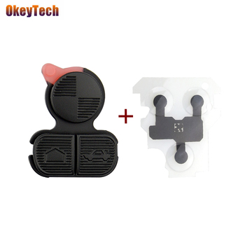 OkeyTech for BMW Series 3 5 7 E38 E39 E36 Z3 Z4 Z8 X3 X5 3 Button Car Key Pad with Conductive Gasket Auto Accessories Rubber Pad image