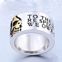 Крутые мужские кольца с черепом скелетом в готическом стиле
