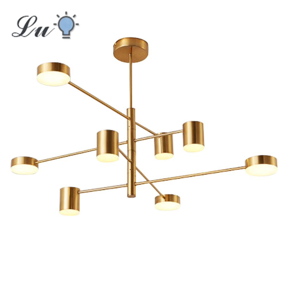 LED Chandelier Lighting Modern Fashion Black Gold White Hanging Lamp Long Lights For Hall Kitchen Living Room Loft Bedroom Light