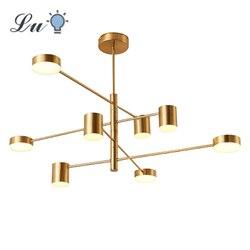 LED Kronleuchter Beleuchtung Moderne Mode Schwarz Gold Weiß Hängen Lampe Lange Lichter für Halle Küche Wohnzimmer Loft Schlafzimmer Licht