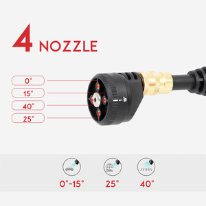 Image 4 - 20V 2.6MPa Cordless Senza Fili Tenuto In Mano Ad Alta Pressione Lavatrice Cleaner per la Pulizia Auto Lavaggio Auto per la Pistola Ugelli Tip 6m di Tubo Filtro