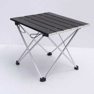 Image 2 - Outdoor Aluminum Folding Table Camping Portable Barbecue Table Portable Multi function Ultra Light Mini Picnic Table