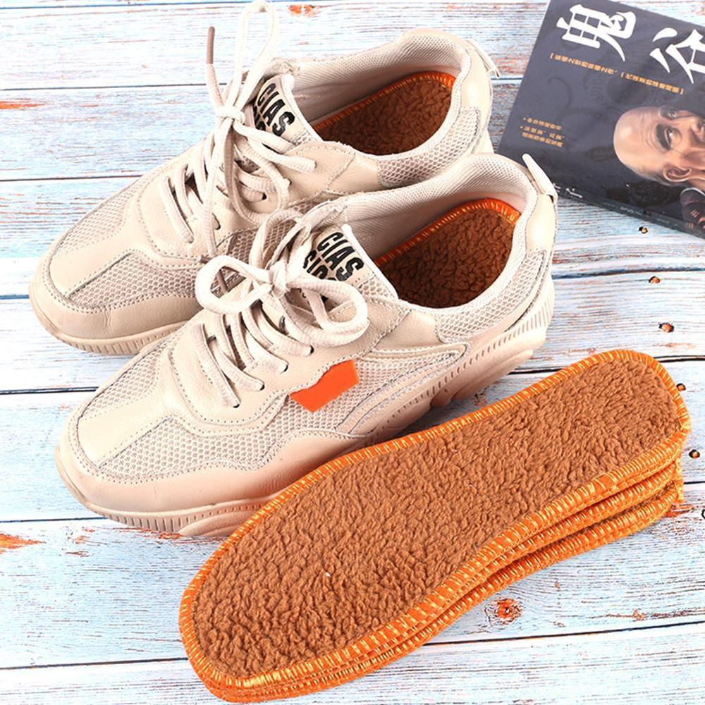 1 Pair Winter Warm Insoles Shearling Fur Wool Cashmere Thermal Snow Boot Shoe Pad