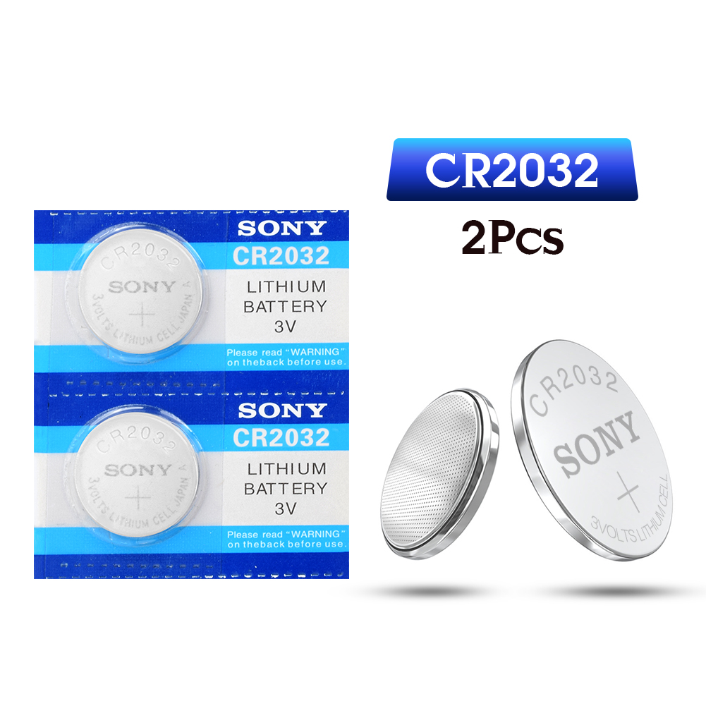 2pcs For SONY Original 2032 Battery Cr2032 3v Button Cell Coin Lithium Batteries For Watch Computer Toy Remote Control Cr 2032