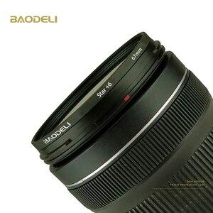 Image 5 - BAODELI Star Filtro 49 52 55 58 62 67 72 77 82 Millimetri Per La Macchina Fotografica Lens Canon Eos M50 T5 t6 77 2000 D Nikon 3500 7500 Sony Accessori
