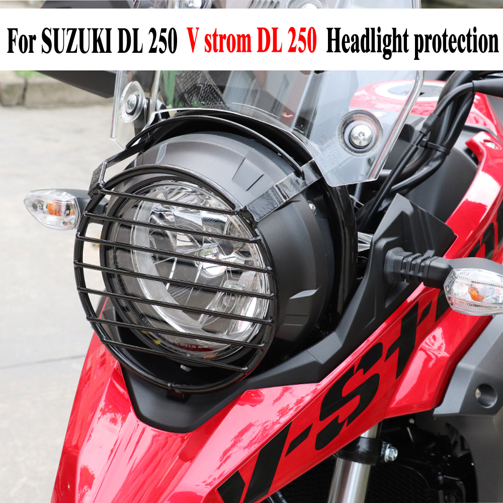 Motorcycle Headlight Grill Cover Head Light Protection HeadLamp Guard For SUZUKI DL250 Vstrom DL 250