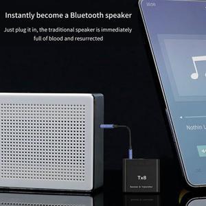 Image 5 - DISOUR TX8 5,0 Bluetooth Empfänger Sender Mit Volumen Control Taste 2 in 1 Audio Wireless Adapter 3,5 MM AUX Für auto TV PC